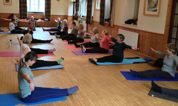 Teaching Pilates at Barnack village hall